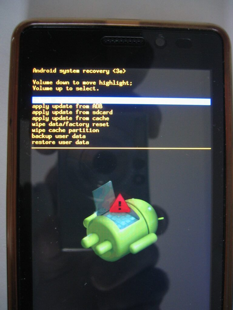 Flasher android - Démarrage en Mode de secours ou Recovery Mode