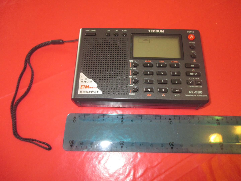 Radio Tecsun PL380 vue avant taille - front view size